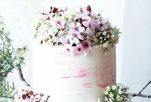 spring naked cake
