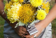 Grey and Yellow Theme  / Silvery gray and yellow wedding theme / by Amber Woodall