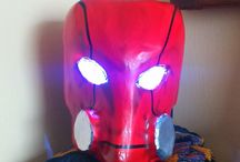 helmet red hood