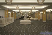 Lounge - American Ballroom / Lobby-ul American Ballroom este locul ideal pentru organizarea evenimentelor de amploare – conferințe, întâlniri, seminarii, training-uri, lansări de produse, expoziții etc. – prin facilitățile de ultimă generație, spațiile flexibile și atenția acordată fiecărui detaliu.  Spațiul de primire, cu o suprafață totală de 500 mp, conferă o notă distinsă celor 4 saloane pe care le deservește și pune la dispoziția clienților noștri atât un spațiu de joacă pentru copii, cât și o garderobă.