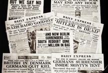 Headlines and History / Front pages newspapers