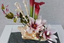 composizioni floreali in zucchero