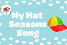 Seasons & Weather Songs / Cool weather and seasons songs for kids. Each song includes a FREE video song, FREE fun curriculum learning activities and FREE song lyrics.