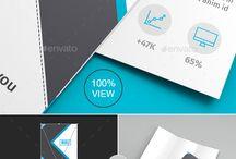 8 PSD tri-fold brochure mockup