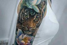 Tatuaż z tygrysem