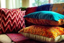 Ethnic modern pillow / Beautifully sewn traditional ikat and Batik pillow cover