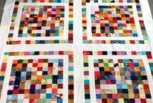 Square scrap quilts / Ways to use the square scraps (and the occasional triangle scrap) I am collecting