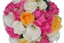 Tropical Wedding / Bright vibrant wedding flowers, ideal for that far away tropical beach wedding feel.