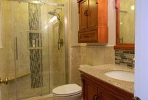 Traditional Cozy Bathroom in Yardley PA / Warm colors make the bathroom inviting and cozy