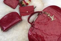LV red bag