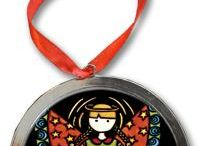 Ornaments / Holiday Ornaments created from Sarah Angst Fine Artist & Printmaker Images