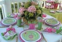 ピンクを使ったテーブルコーデ