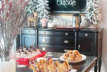 Christmas dinning room deco