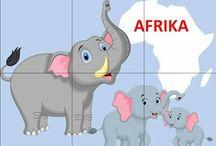 Harta lumii cu animale