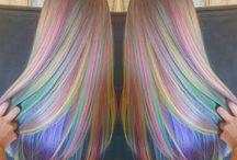 Regenbogen-haarfarben