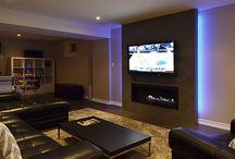 Finished Basement Fireplace Ideas
