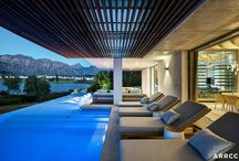 "House De Zalze, Cape Winelands / ""This house is unique in its detail and quality of finish and reflects a living environment that is seductive and inspired by family living,"" says Mark Rielly. ARRCC Director"