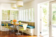 kitchen banquettes / by Jessica Claire Interiors