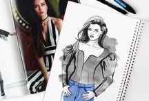 Fashion Illustrations / Gosia Zimniak: fashion illustration