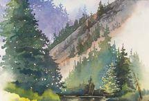 Рисунки ландшафт