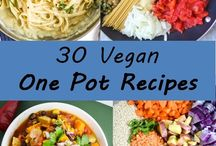 One Pot Vegan dishes