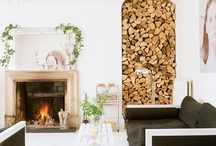 M&B | Fireplace & Hearth / We are loving the look of exposed firewood storage. Such texture and natural appeal! Check out these inspiring ideas...