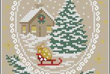 Hama/cross stitch christmas