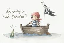 niños piratas...