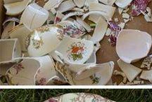 Декор из битой посуды