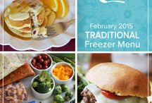 Traditional February 2015 Freezer Menu / by Once A Month Meals