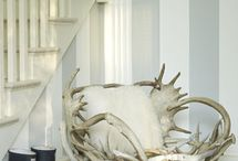 Antlers / From traditional mounted trophies to postmodern furniture, people have been using the beautiful natural forms of antlers in home decor for centuries.