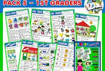 ESL# TEACHING RESOURCES# FOR 1ST GRADERS# / ENGLISH STEP BY STEP - 1ST GRADERS (PACK 5) http://teachenglishstepbystep.weebly.com/step-by-step---1st-graders.html