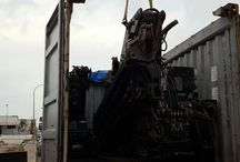 Load container 20' OT (2,6 metres extra height) for South America / knuckle boom cranes for sale