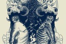 Dark Art / Tshirt and tatto Design