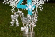 Frozen party centerpieces