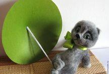 Войлочные игрушки / Игрушки ручной работы из шерсти