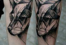 Τατουάζ με λύκους