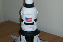 Rocket Ship Birthday Cakes
