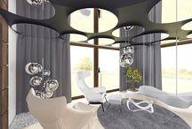 Dom w Koleczkowie / Remontowany dom, przystosowany do potrzeb rodziny z dzieckiem. Będąca założeniem projektowym elegancja jest tu zauważalna od razu od przekroczenia progu. Modne połączenie bieli ścian z akcentami w czarnym i szarym kolorze a także wykorzystanie naturalnego drewna oraz dizajnerskich dodatków w postaci mebli i lamp nadaje wnętrzu rasowego charakteru. Na uwagę zasługuje również pokój dziecięcy, który dzięki zastosowanym tam zabiegom architektonicznym wspomaga integrację sensoryczną dziecka.