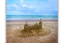 Sand Water Sky / sandcastles, seascapes and skyscapes by artist Lou Gagnon / by Andrea Gagnon