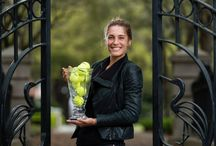 Andrea Petkovic: Family Circle Cup Champion's Photo Shoot / 2014 Family Circle Cup champion Andrea Petkovic headed to Charleston's Waterfront Park for a photoshoot with her new trophy. / by Family Circle Cup