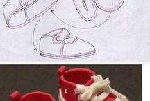 zapatillas de muñecas.