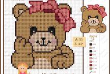 Cross-stitch---Baby Samplers--Teddy Bears