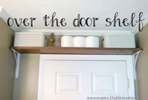 Over the door shefl diy