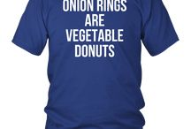 Onion Rings Are Vegetable Donuts Vegan T-Shirt