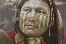 Paintings - Portraits Native Indians