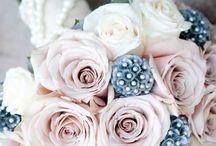 vintage wedding pink beige grey