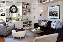 High shelves in Living Room