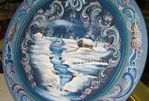 Karácsonyi dekoráció festés