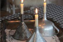 kynttilä koristeena